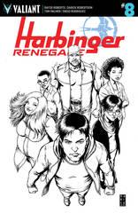Harbinger Renegade #8 Cover E 1:50 Darick Robertson B/W Variant