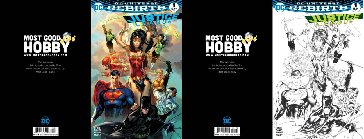 Justice League #1 Most Good Exclusive EBAS Color Inked Variant Set (REBIRTH)