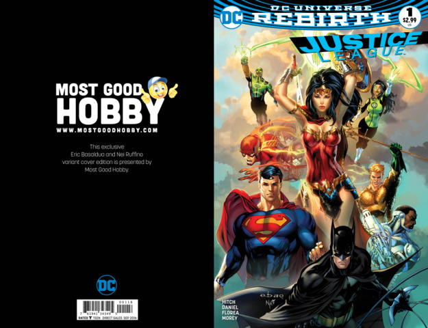 Justice League #1 MGH Exclusive EBAS Variant (REBIRTH)