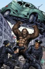 GFT Escape From Monster Island #3 (Of 5) D Cover Reyes