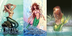 GFT Little Mermaid #1 Lot Cover A B C Set