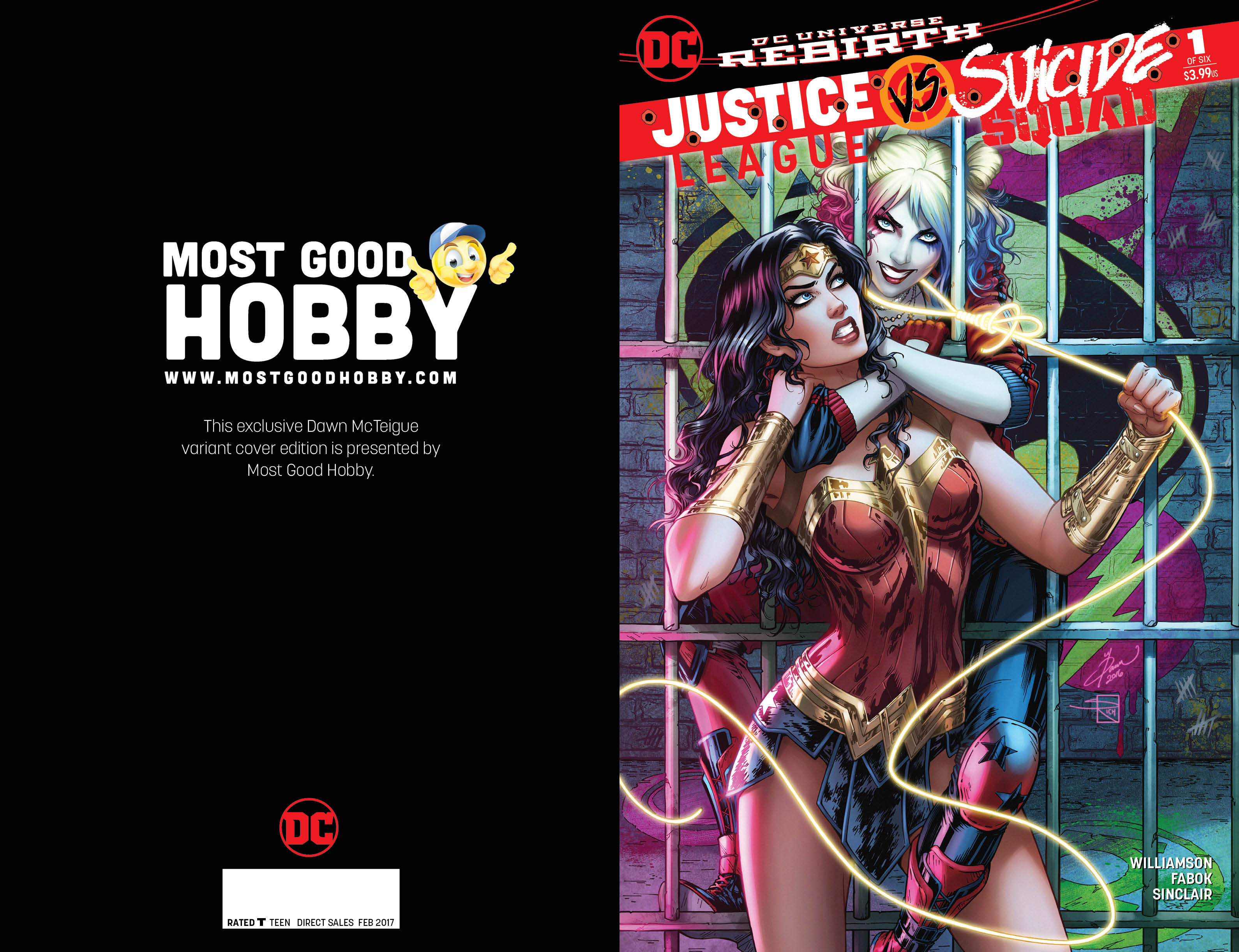 Justice League vs Suicide Squad #1 (Of 6) Most Good Exclusive Dawn McTeigue Variant