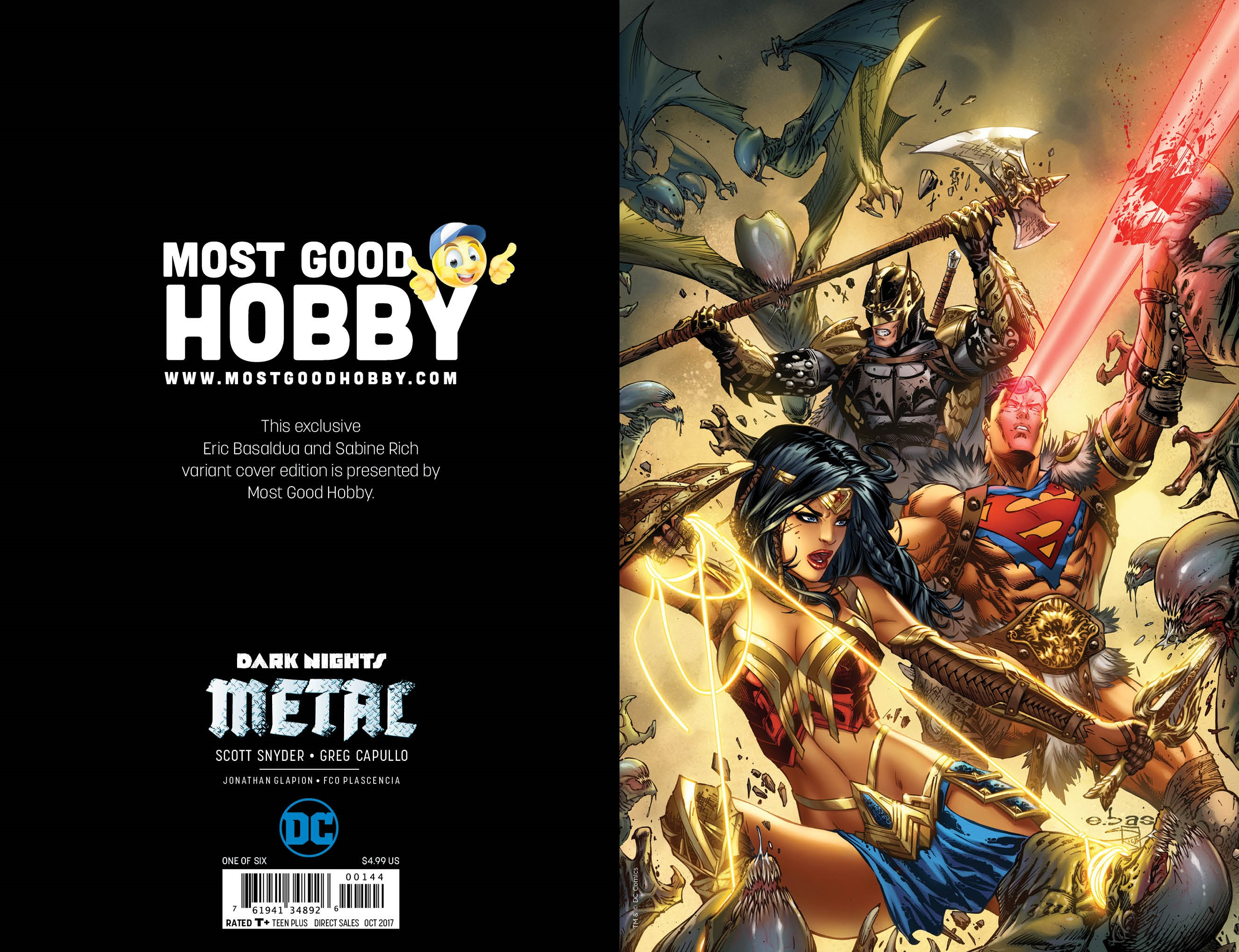 Dark Nights Metal #1 Most Good Exclusive EBAS Virgin Variant