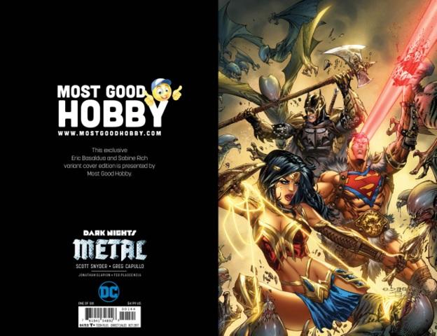 Dark Nights Metal #1 MGH Exclusive EBAS Virgin Variant