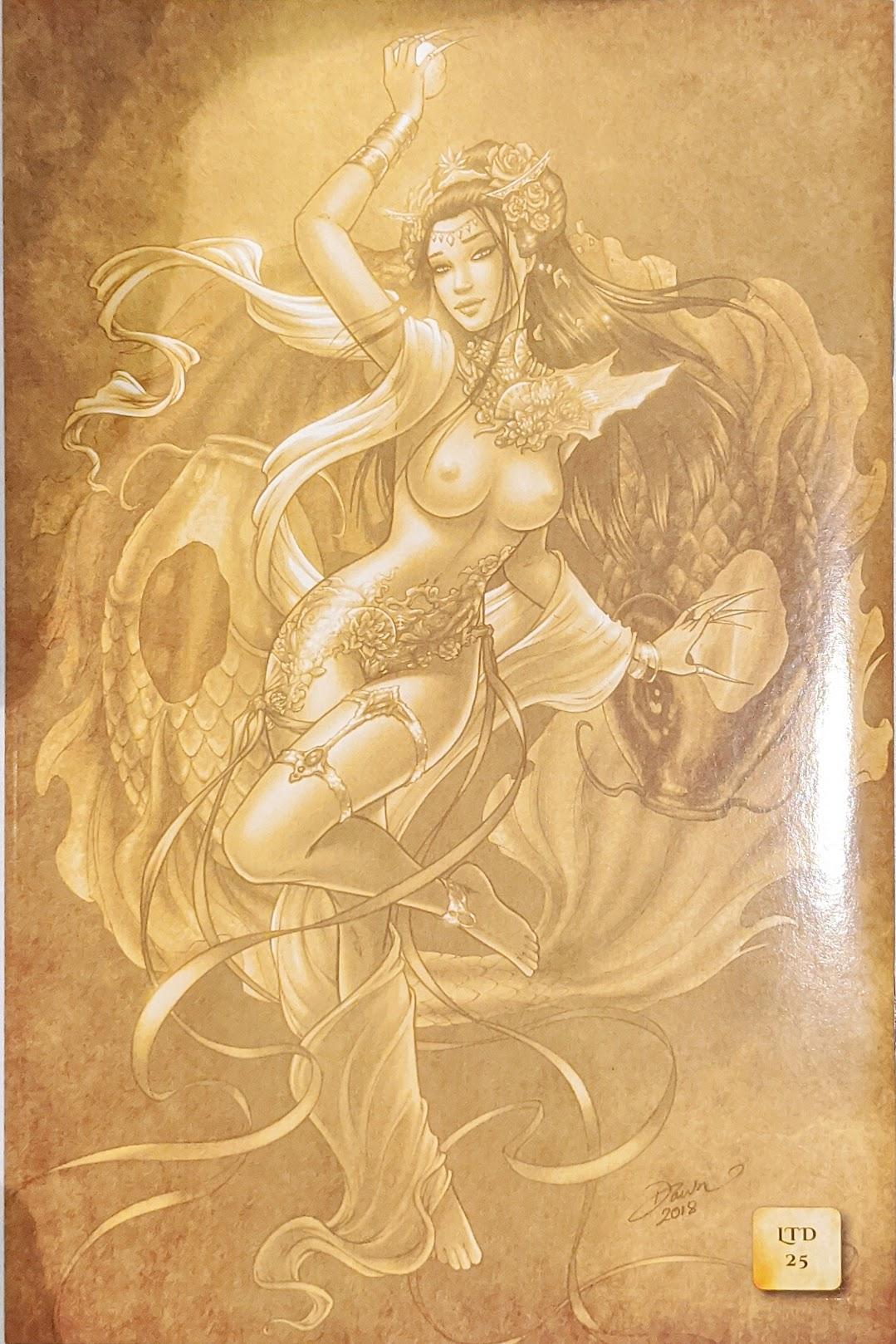 Divinica #4 Dawn McTeigue Gold Risque Variant LTD To 25