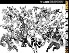 X-O Manowar #50 Cover M 1:50 Variant B&W All-Star Jam