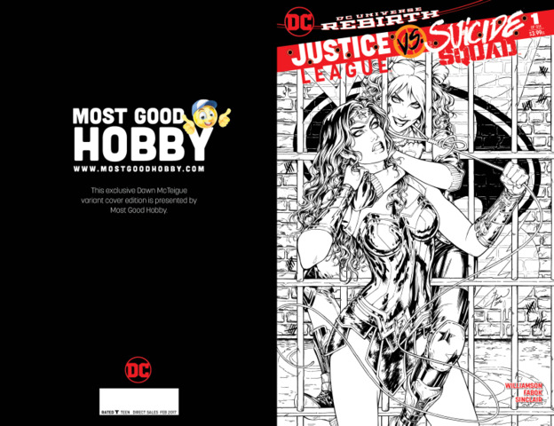Justice League Suicide Squad #1 (Of 6) MGH Exclusive Dawn McTeigue INKED Variant