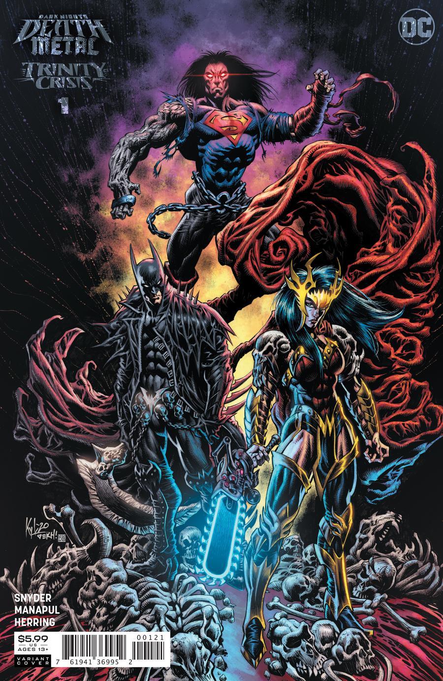 Dark Nights Death Metal Trinity Crisis #1 Cover B 1:25 Kyle Hotz Variant