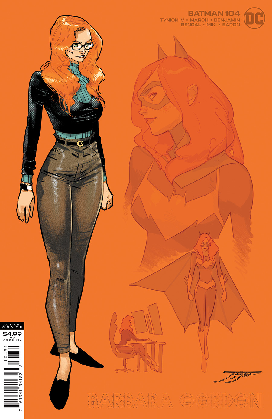 Batman #104 Cover C 1:25 Jorge Jimenez Barbara Gordon Card Stock Variant