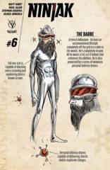 Ninjak #6 Cover D 1:10 Character Design Kindt Variant