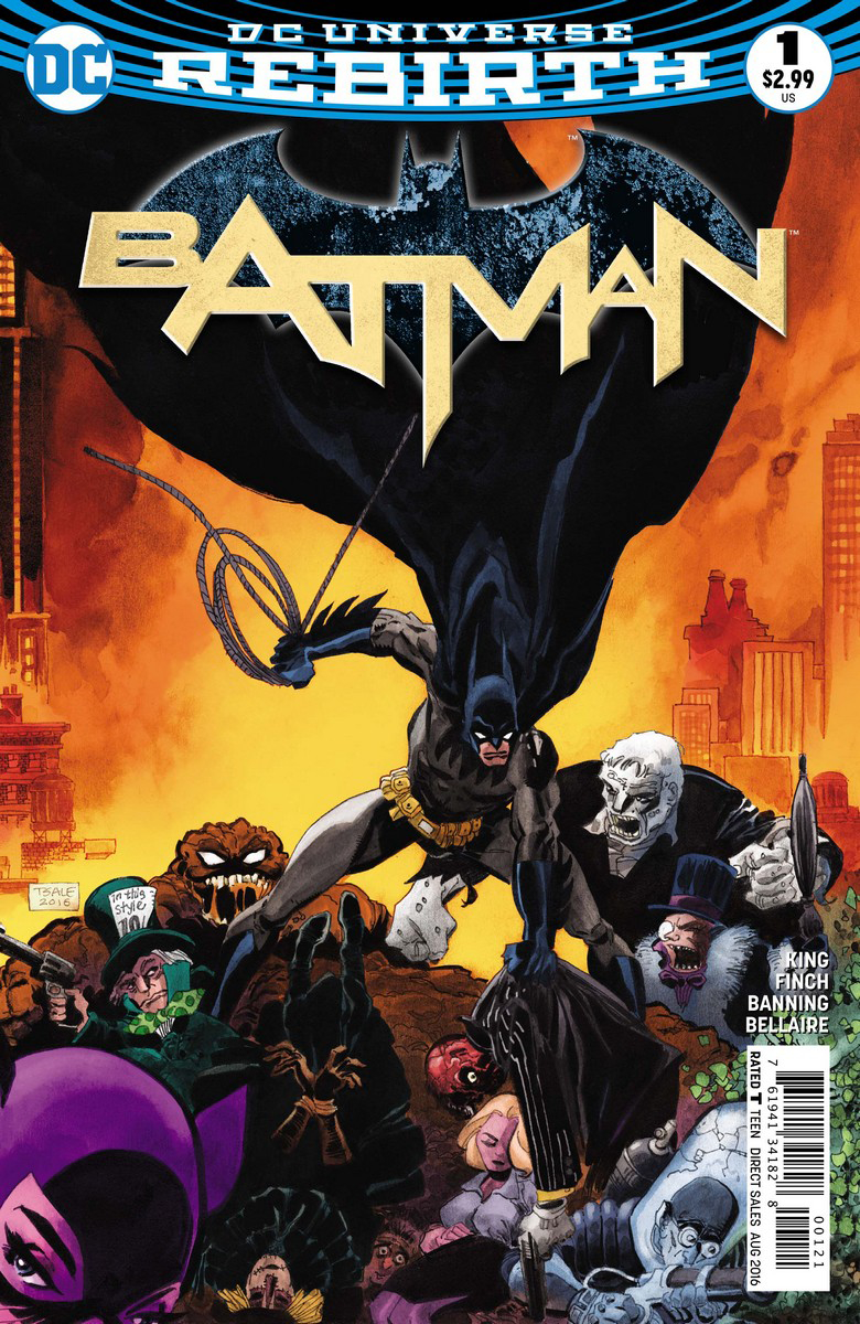 Batman Vol 3 #1 Cover B Tim Sale Variant (REBIRTH)