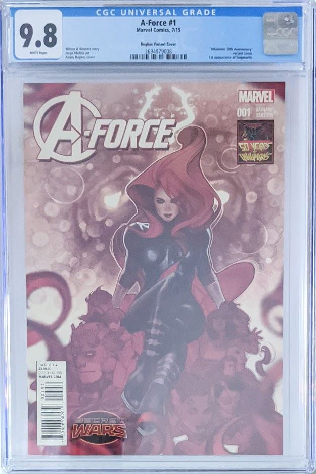 A-Force #1 1:50 Adam Hughes Inhumans 50th Anniversary Variant CGC 9.8