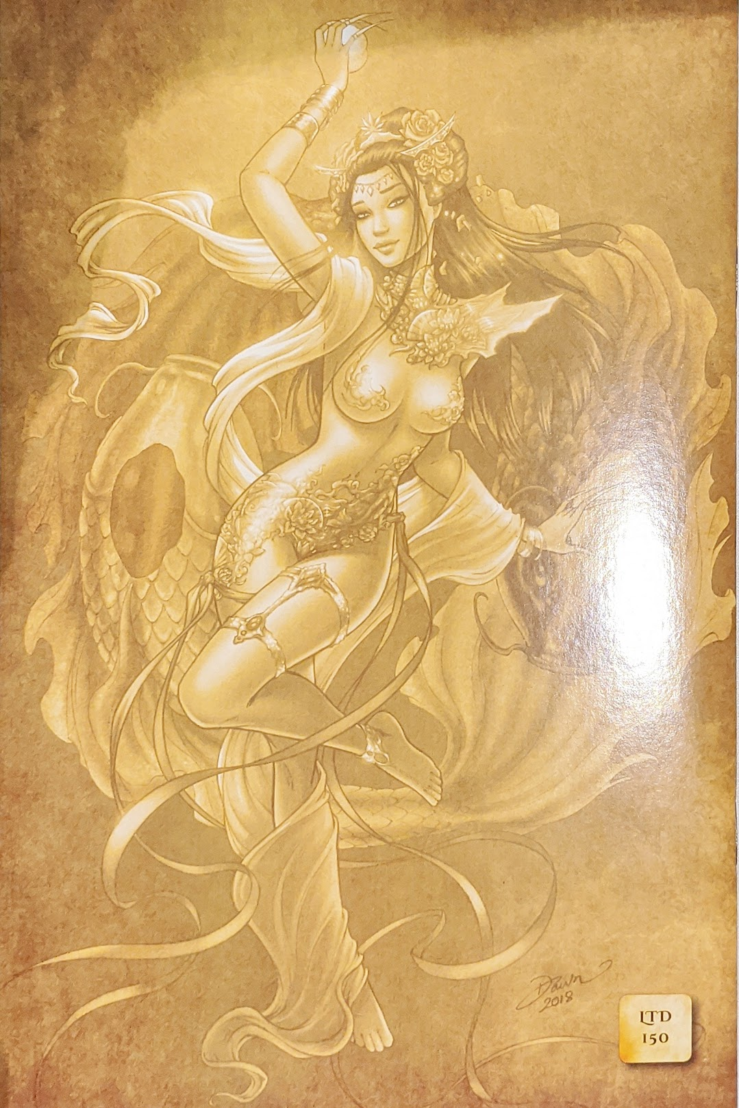 Divinica #4 Dawn McTeigue Gold Rothic Variant LTD To 150