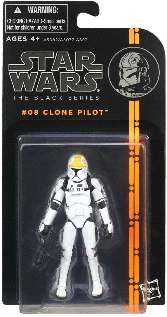 Star Wars Black #8 Clone Pilot 3 3/4 Inch Action Figure