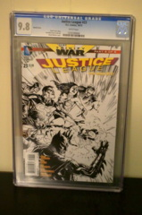 Justice League #23 1:100 Sketch Variant (Trinity) CGC 9.8