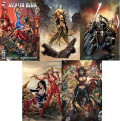 GFT Realm War Age of Darkness #2 Lot Cover A B C D E Set