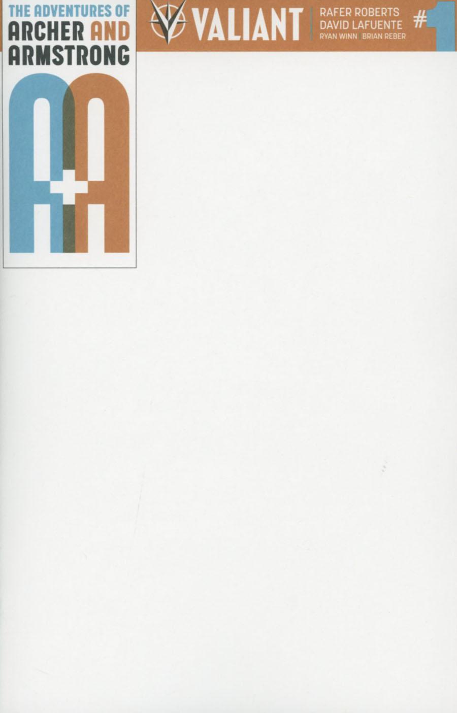 A&A: Archer & Armstrong #1 Cover E Blank Sketch Cover