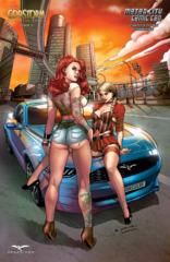 GFT Godstorm Hercules Payne #1 Cover E Richard Ortiz 2014 Motor City CC Exclusive LTD 500