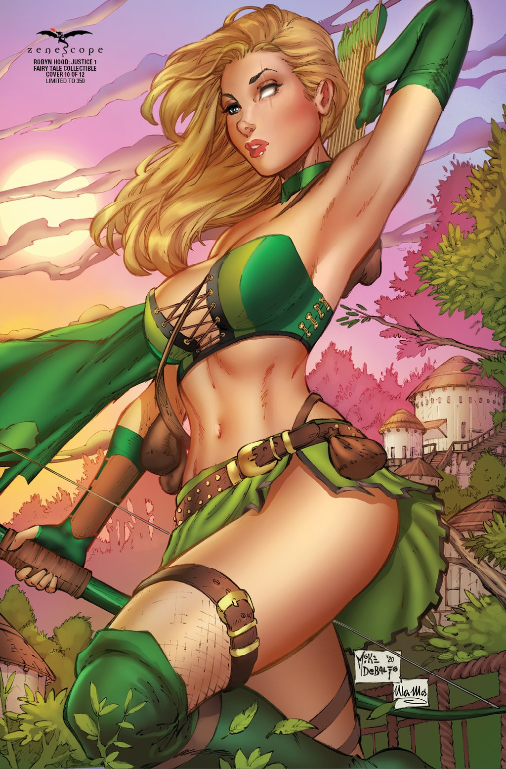 Robyn Hood Justice #1 Cover H Mike DeBalfo Fairy Tale Exclusive LTD 350