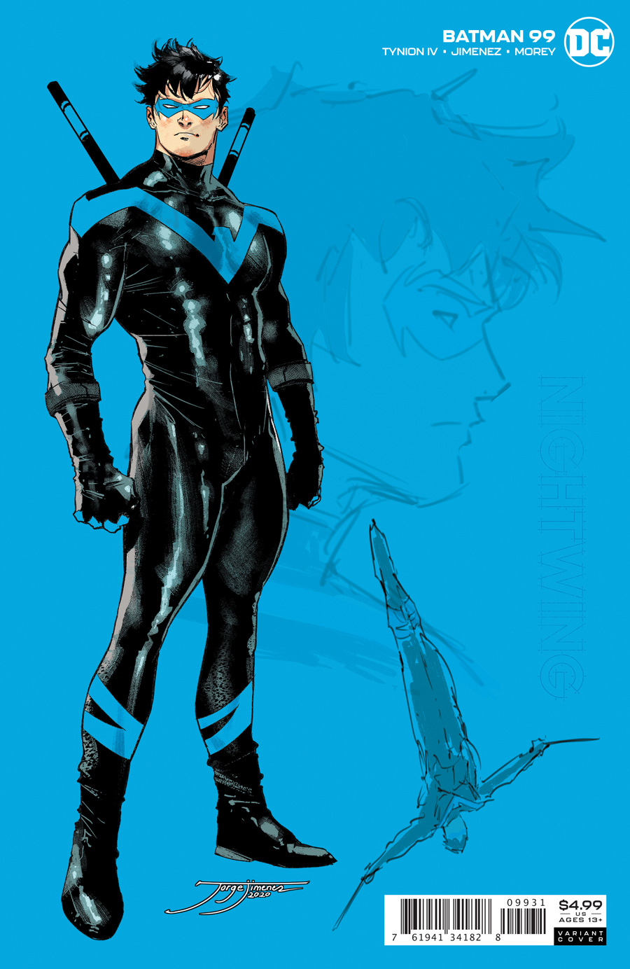 Batman Vol 3 #99 Cover C 1:25 Jorge Jimenez Nightwing Variant