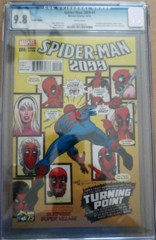 Spider-Man 2099 #4 1:25 Deadpool Photobomb Land Variant CGC 9.8