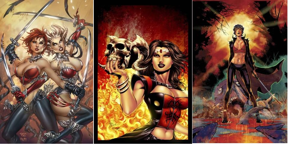 GFT Inferno Rings of Hell #3 (of 3) Lot Cover A B C Set