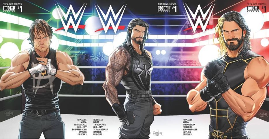 WWE Then Now Forever #1 Lot Cover A C E Set