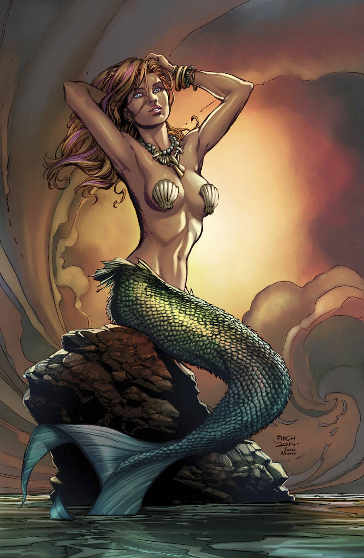 GFT Little Mermaid #1 (Of 5) D Cover Super Rare Exclusive Finch