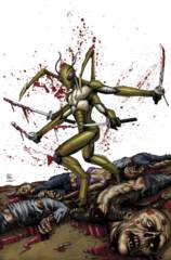 Aliens Vs Zombies #3 (Of 5) B Cover Spay