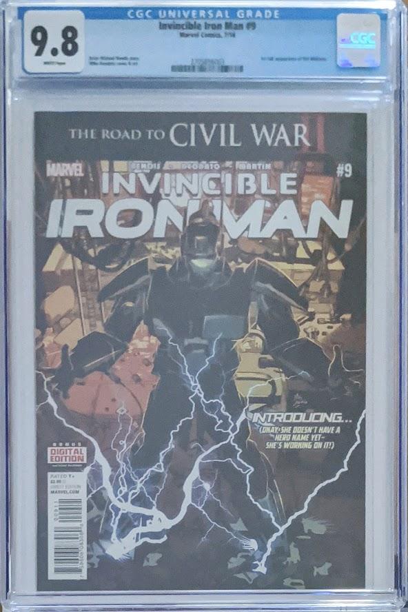 Invincible Iron Man #9 First Print 1st Full Riri Williams CGC 9.8