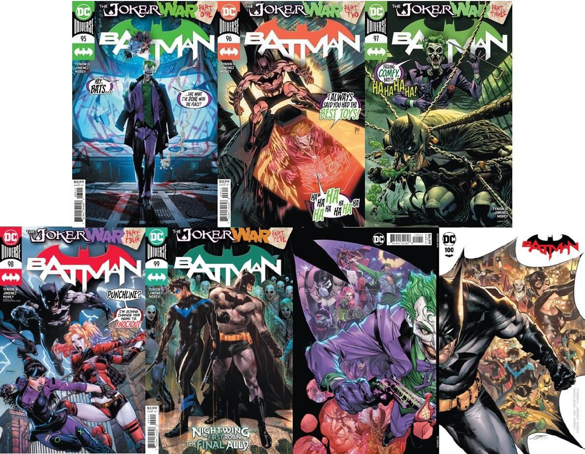 Batman Vol 3 #95 #96 #97 #98 #99 #100 Cover A Lot Joker War 6 Issue Set