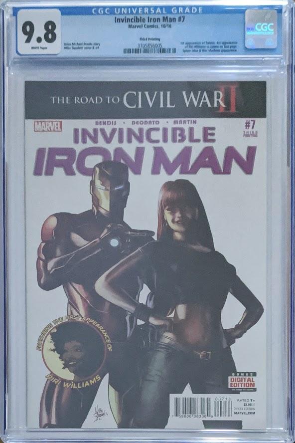 Invincible Iron Man #7 3rd Print 1st Riri Williams CGC 9.8