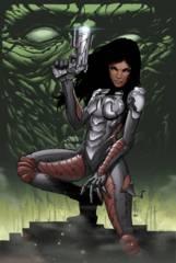 Aliens Vs Zombies #3 (Of 5) C Cover Cafaro