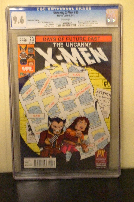 Uncanny X-Men #23 SDCC 2014 Minimates DOFP Variant CGC 9.6