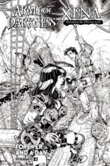Aod Xena Forever And A Day #3 (Of 6) Cover B 1:10 B&W Variant