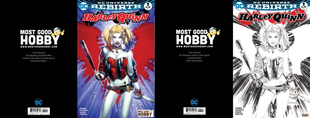 Harley Quinn #1 Most Good Exclusive EBAS Color INKED Variant Set (REBIRTH)