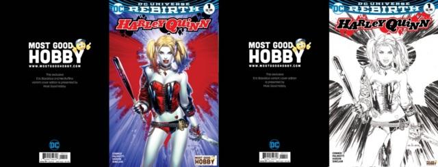 Harley Quinn #1 MGH Exclusive EBAS Color INKED Variant Set (REBIRTH)