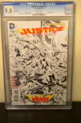 Justice League #22 1:100 Sketch Variant (Trinity) CGC 9.8