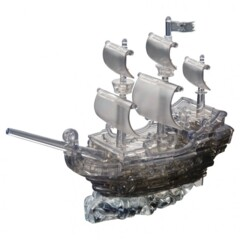 3D Crystal Puzzle: Deluxe Pirate Ship Black Level 3