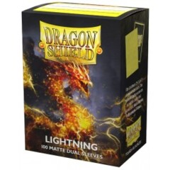 ATM15047 Dragon Shield Sleeves: Double Matte Lightning