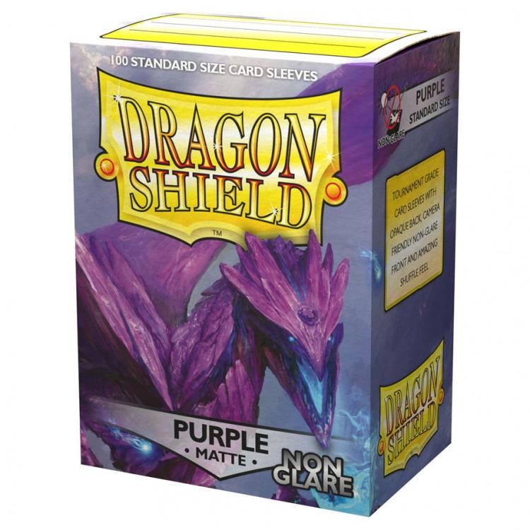 ATM11809 Dragon Shield Sleeves: Matte Non Glare Purple