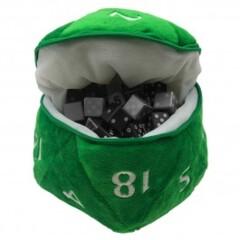 Ultra Pro Plush D20 Dice Bag Green