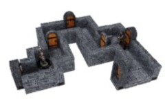 WarLock Tiles Expansion Pack 1 in. Dungeon Straight Walls