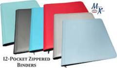 Generic 12 Pkt Zippered Binder BLUE