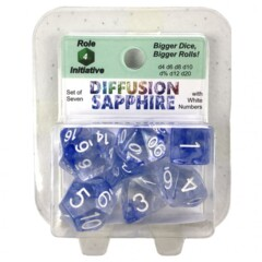 Roll For Initiative Diffusion 7 Set: Sapphire w/White