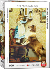 Barber - Little Girl and Sheltie - 1000pc puzzle