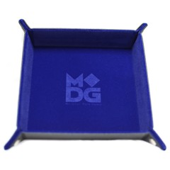 Velvet Folding Dice Tray Blue