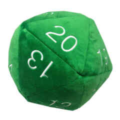 Ultra Pro D20 Jumbo Plush Dice: Green/Silver