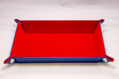 Best Dice Tray - Rectangle: Dark Blue W\Red