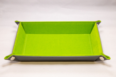 Best Dice Tray - Rectangle: Grey W\Green